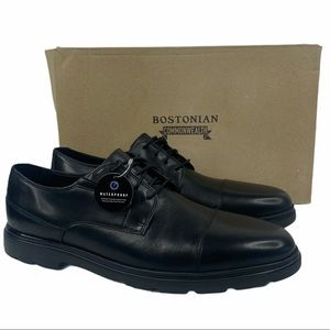 Bostonian Luglite Cap Black Leather Lace Up Shoes